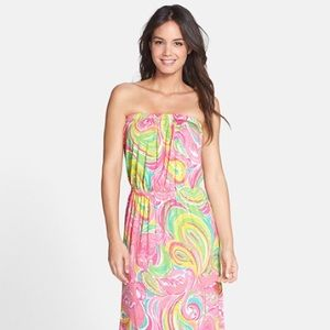 Lilly Pulitzer maxi dress flamingo size medium!!!
